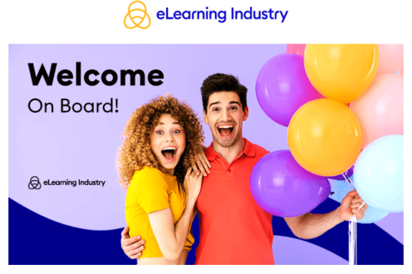 eLearning Industry welcome email